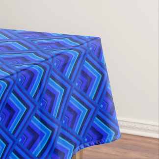 Blue stripes scale pattern tablecloth