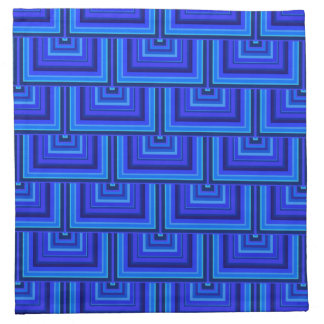 Blue stripes square scales pattern napkin