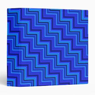 Blue stripes stairs pattern 3 ring binder