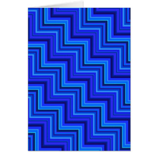 Blue stripes stairs pattern card