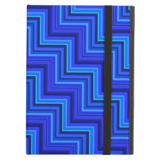 Blue stripes stairs pattern iPad air covers