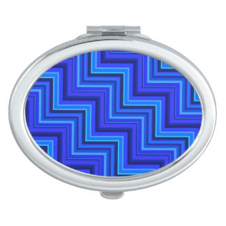 Blue stripes stairs pattern makeup mirror