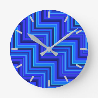 Blue stripes stairs pattern wallclock