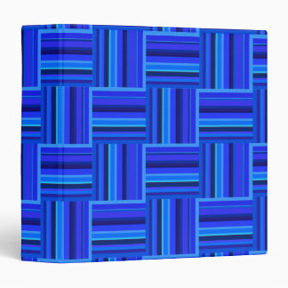 Blue stripes weave pattern 3 ring binders