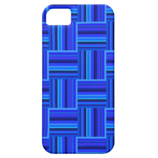 Blue stripes weave pattern iPhone 5 case