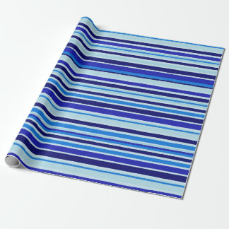 Blue Stripes Wrapping Paper