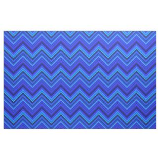 Blue stripes zigzag pattern fabric