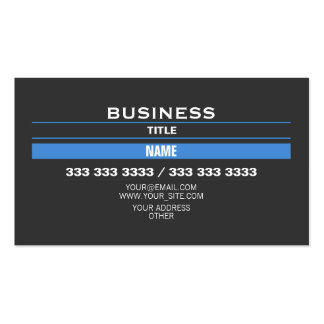 Blue Strips Business Card