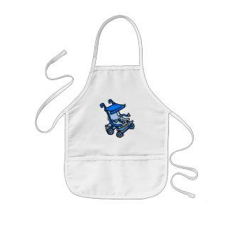 blue stroller aprons