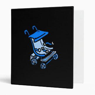 blue stroller 3 ring binders
