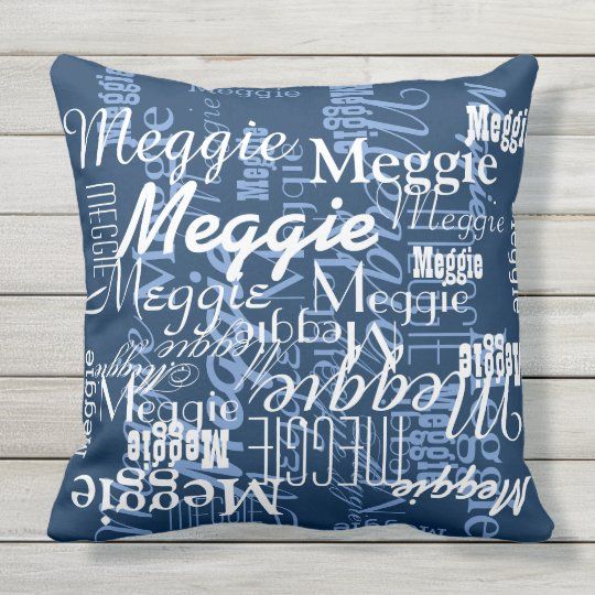 blue stylish and personalized throw pillow