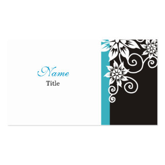 Blue : : Stylish Black and White Business Cards