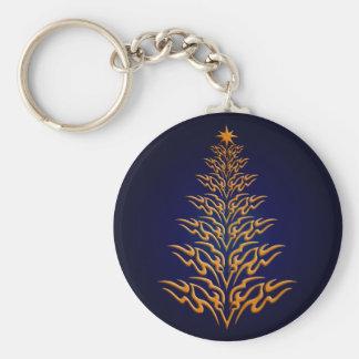 Blue Stylish Christmas Tree Key Chain