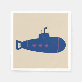 Blue Submarine Disposable Napkins