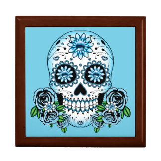Blue Sugar Skull Gift Box