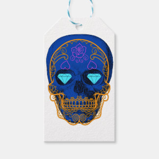 Blue Sugar Skull Gift Tags