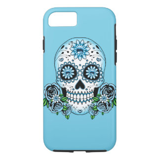Blue Sugar Skull iPhone 8/7 Case