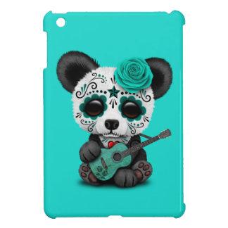 Blue Sugar Skull Panda Playing Guitar iPad Mini Case