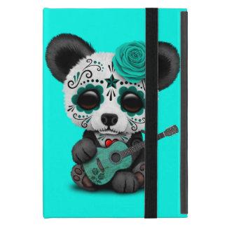 Blue Sugar Skull Panda Playing Guitar iPad Mini Cover