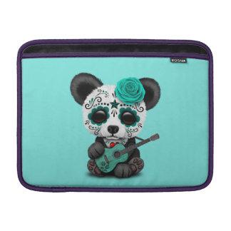 Blue Sugar Skull Panda Playing Guitar Sleeve For MacBook Air