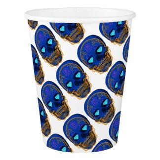 Blue Sugar Skull Paper Cup