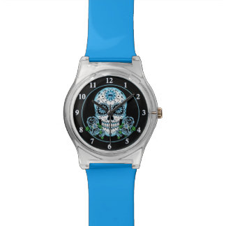 Blue Sugar Skull Watch