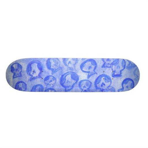 Blue SugarSkulls SkateBoard Deck