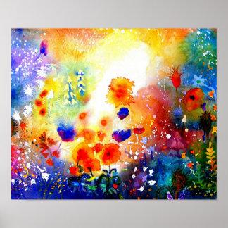 Blue Summer Garden. Poster