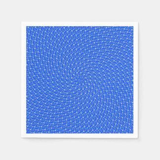 Blue Summer Receding Circular Pattern, Disposable Napkins