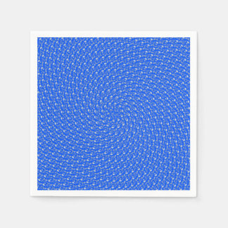 Blue Summer Receding Circular Pattern, Paper Napkin