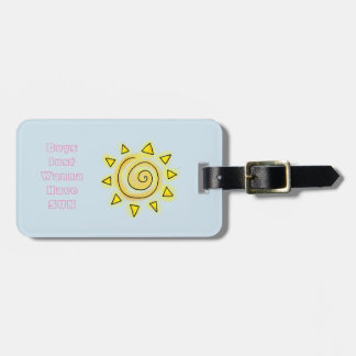 Blue Summer Sun Boys Wanna Have Fun Luggage Tag