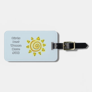 Blue Summer Sun Luggage Tag