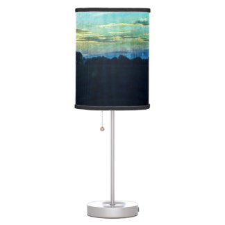 Blue Summertime sunset in the country Table Lamp