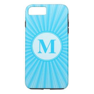 Blue Sun Monogram Customisable iPhone 7 Plus Case