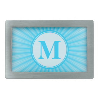 Blue Sun Monogram Personalised Rectangular Belt Buckles