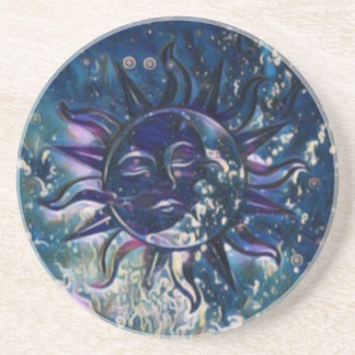 Blue Sun Moon Coaster