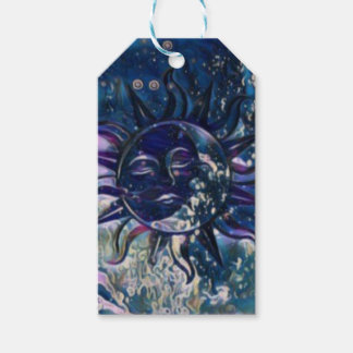 Blue Sun Moon Gift Tags