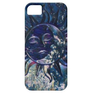Blue Sun Moon iPhone 5 Case