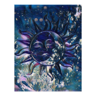 Blue Sun Moon Letterhead