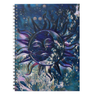 Blue Sun Moon Notebook