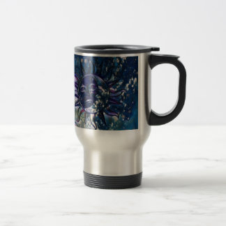 Blue Sun Moon Travel Mug