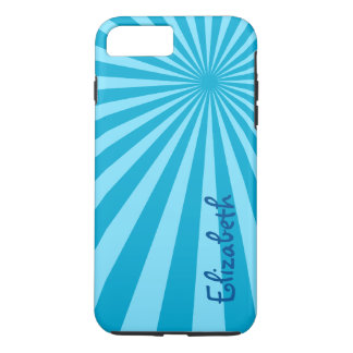 "Blue Sunburst ""Add Your Name"" iPhone 7 Plus Case"