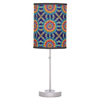 Blue Sunflower Tie Dye Table Lamp