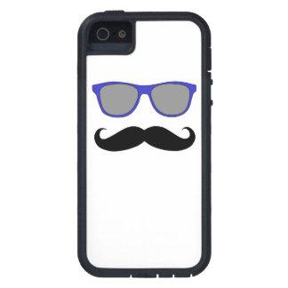 Blue Sunglasses and Black Moustache iPhone 5 Case