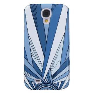Blue Sunrise Art Deco Design