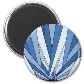 Blue Sunrise Art Deco Design Magnet