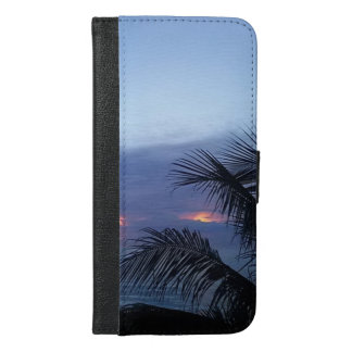 Blue Sunrise Palm Tree iPhone 6/6s Plus Wallet Case
