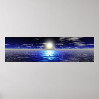 Blue Sunrise Poster