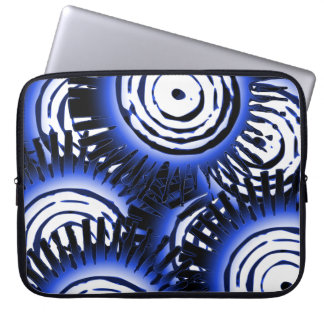 Blue Suns Pattern Laptop Sleeve