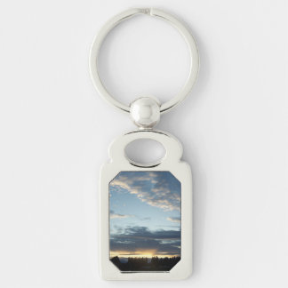 Blue Sunset Dreams Metal Keychain